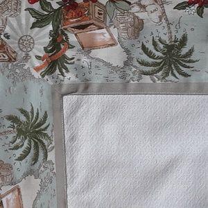 Coffee Fabric Tablecloth LE TELERIE TESCANE
